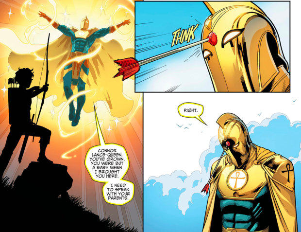 Connor Queen Shoots Doctor Fate Injustice Gods Among Us Ii Superhero Wallpaper Injustice Fate
