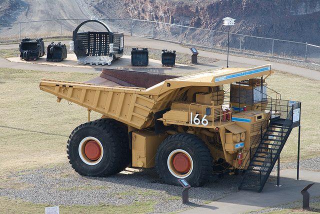 Mining truck on display at the Hull Rust mine in Minnesota