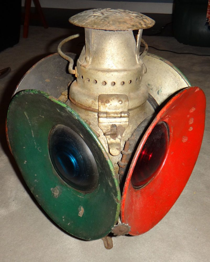 Light Fixtures Chicago: Antique Railroad Lantern THE NON SWEATING ADALAKE LAMP