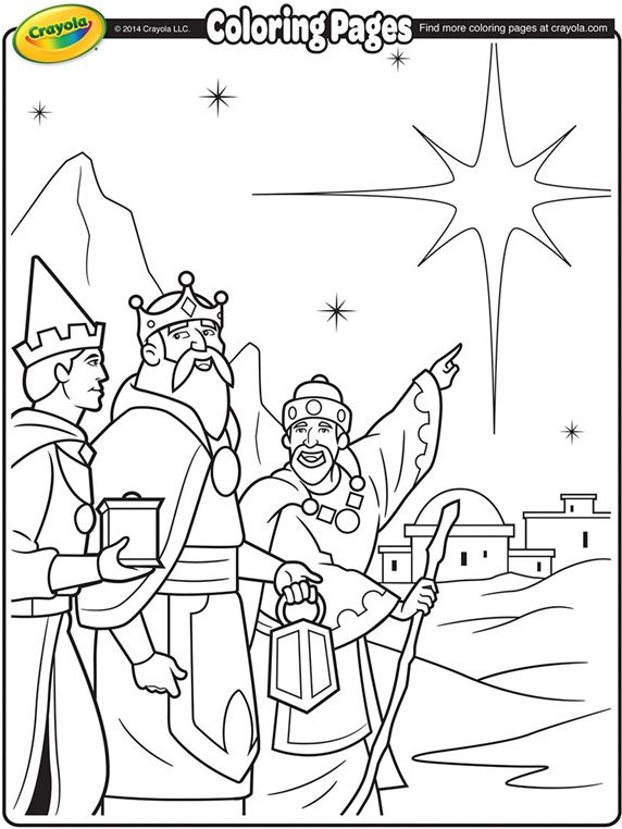 Christmas Coloring Page We Three Kings Fun For The Kids To Color