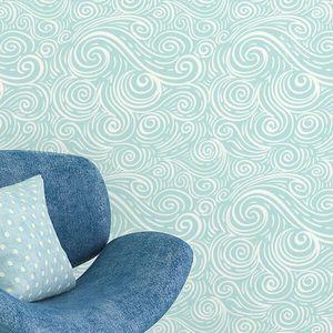 Papel de Parede Azul Ondas Abstrato 2,70x0,57m - V