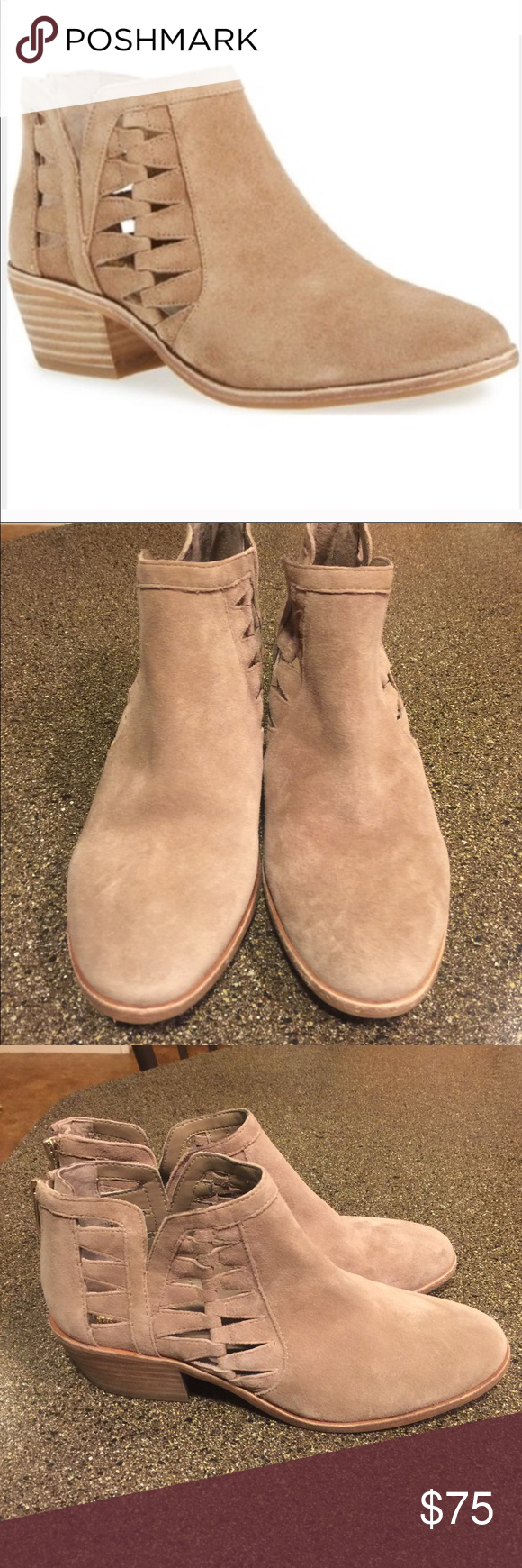 93896b780c1 Vince Camuto Peera Cutout Suede Booties Size 8.5 Vince Camuto Peera Cutout  Suede Booties Size 8.5. Gorgeous and like new! Vince Camuto Shoes Ankle  Boots   ...
