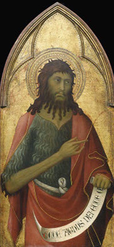 Lippo Memmi (Filippo di Memmo) ~ Saint John the Baptist, c.1325