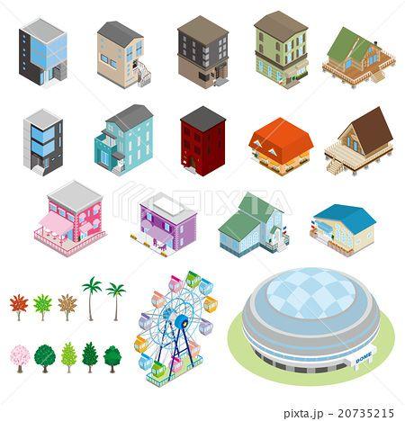様々な建物 立体図 画像あり 図 建築設計図 地図