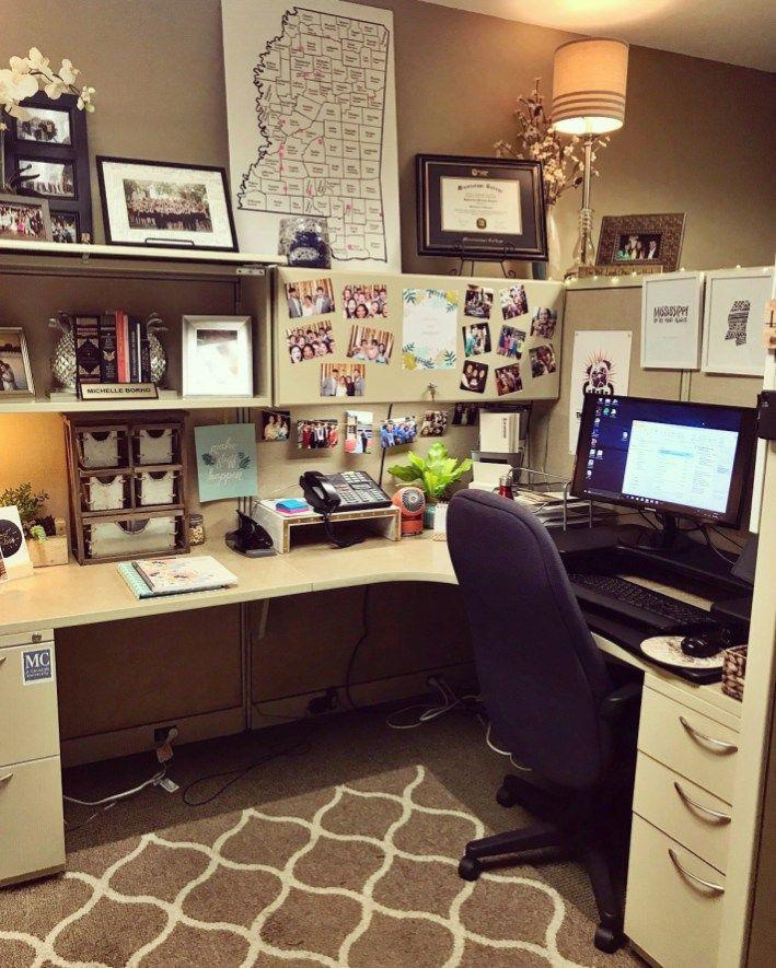 Cubicle Workspace Decor Ideas 28 Cubicle Decor Office Work Office Decor Cubicle Design