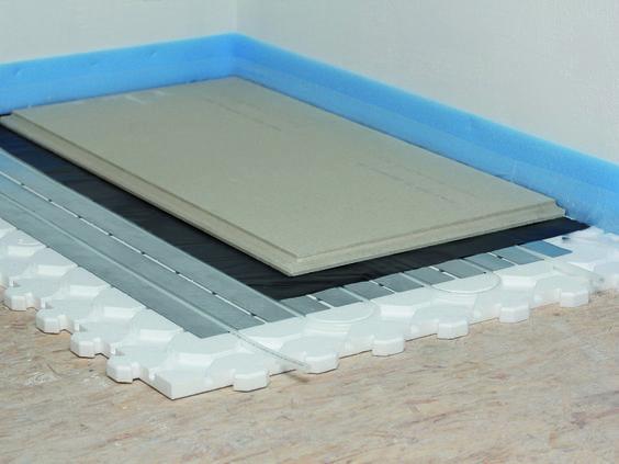 schritt f r schritt anleitung fussbodenheizung trockenestrichsystem verlegen schritt 6 6. Black Bedroom Furniture Sets. Home Design Ideas
