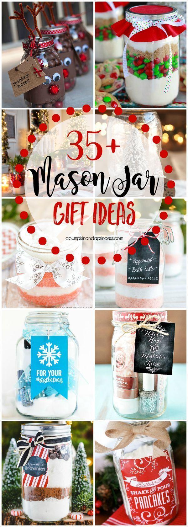 35+ Christmas Mason Jar Gifts #creativegifts