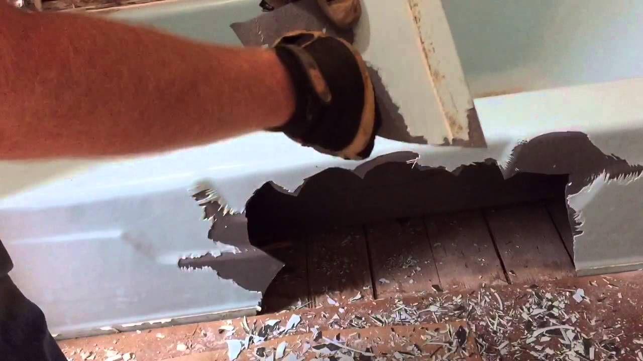 How 1 person can remove a 400 pound cast iron bathtub