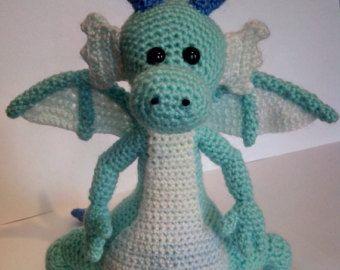 Amigurumi Crochet Dragon Hatchling Pattern Only by CraftyThreads