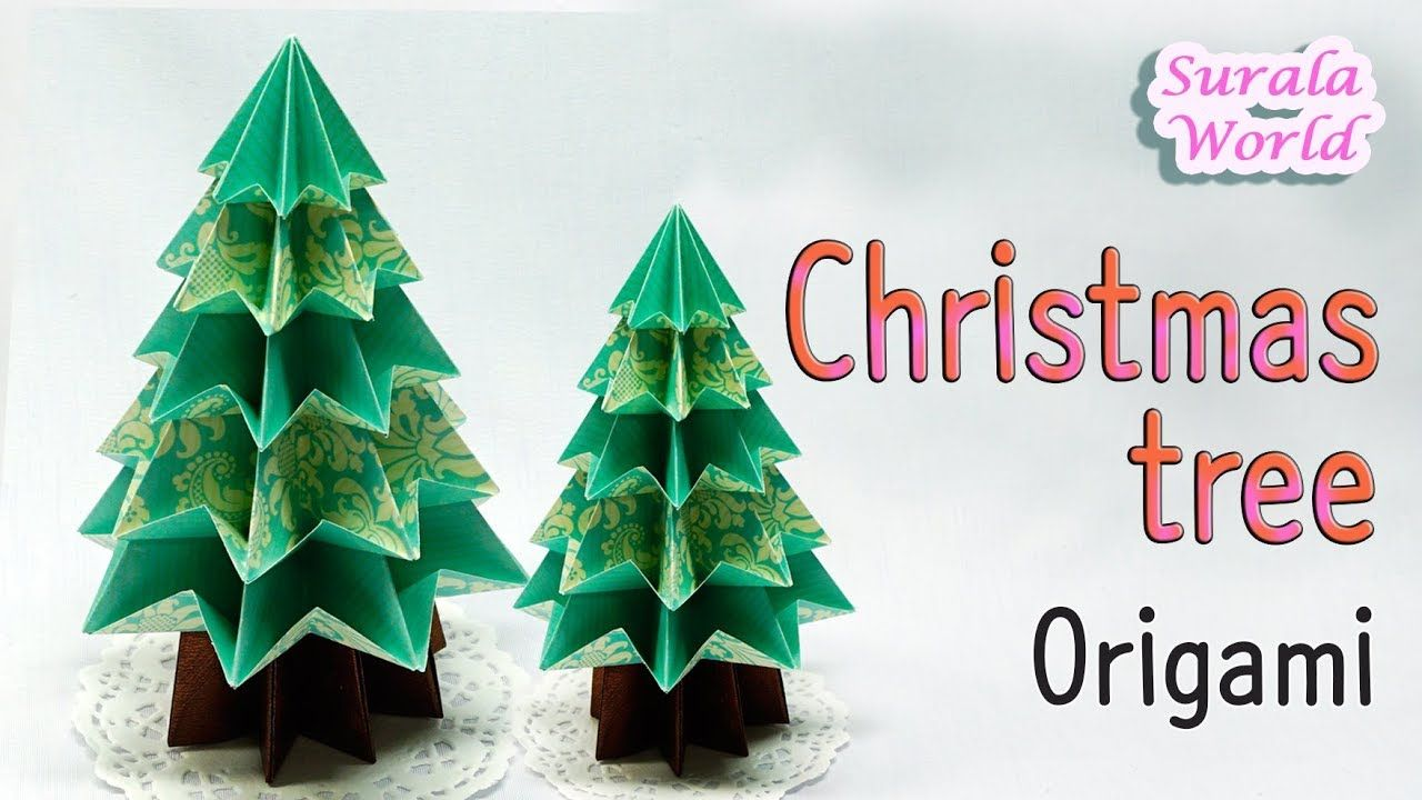 How To Make A Christmas Tree Paper Origami Tutorial Youtube Christmas Origami Origami Christmas Tree Holiday Origami