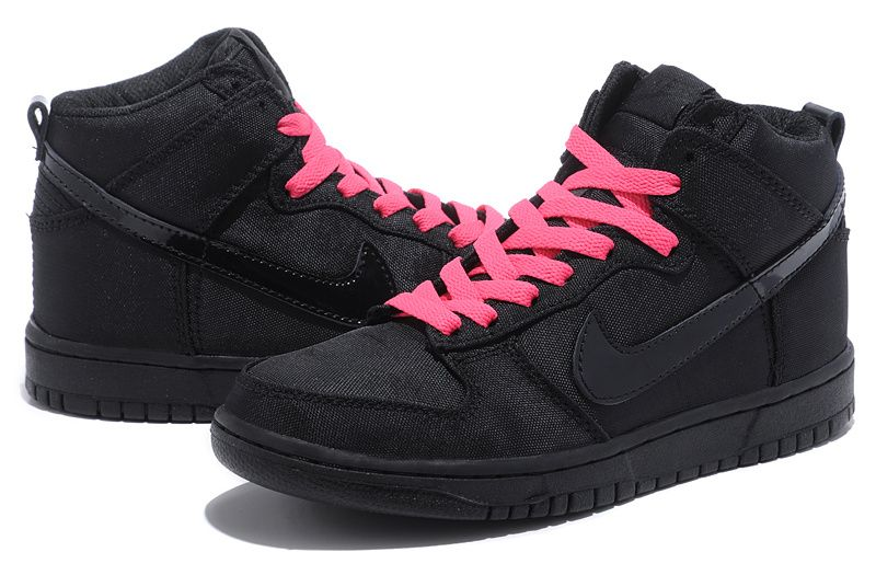 On sale Nike Dunk SB High Top Men Oxford Black Pink Shoes