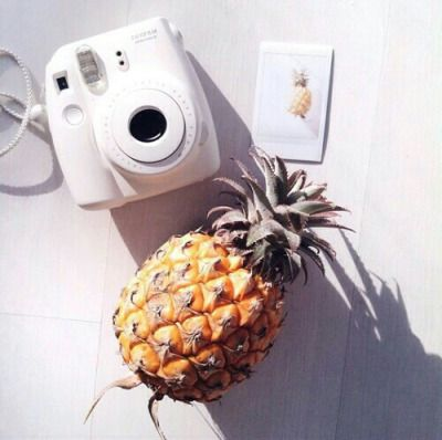 pineapple, polaroid, and summer εικόνα