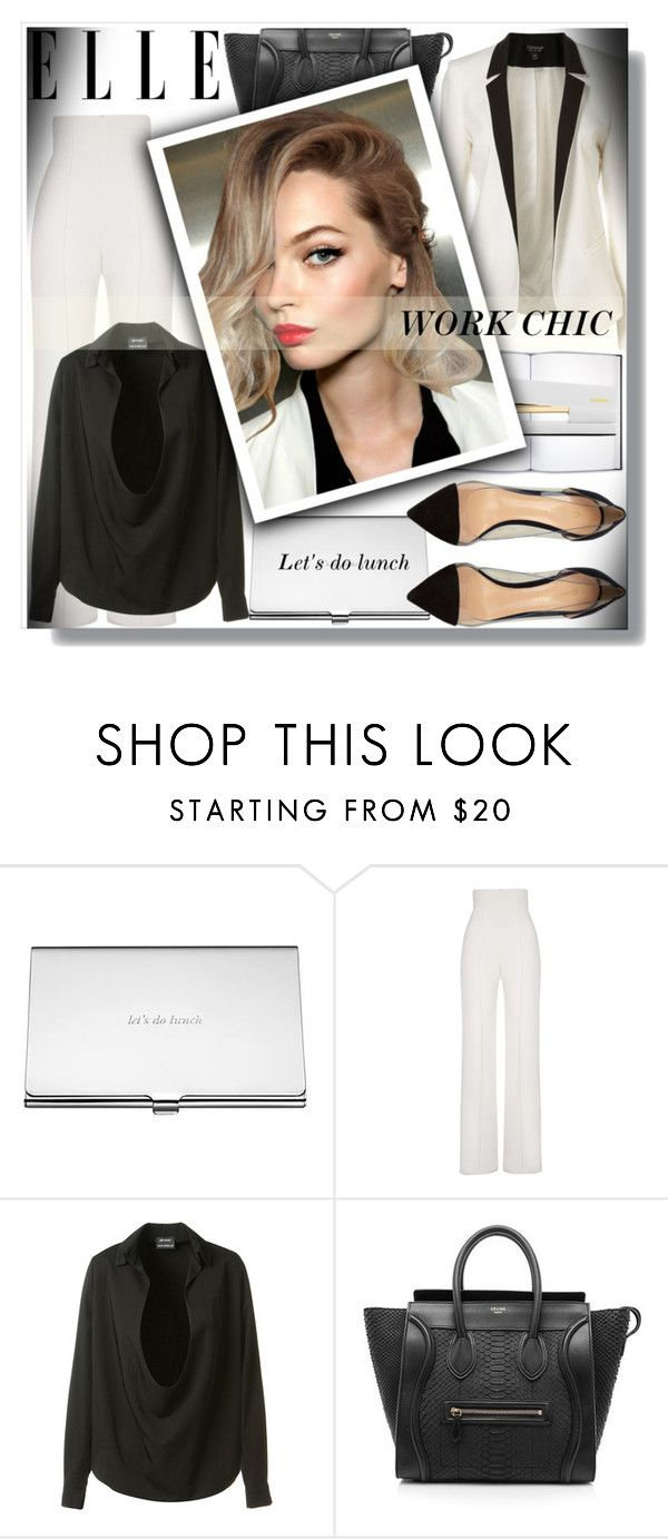 """Work Chic!"" by bella-danielle-mia ❤ liked on Polyvore featuring Kate Spade, Yves Saint Laurent, Anthony Vaccarello, CÉLINE, Gianvito Rossi, WorkWear, celine, GianvitoRossi and anthonyvaccarello"