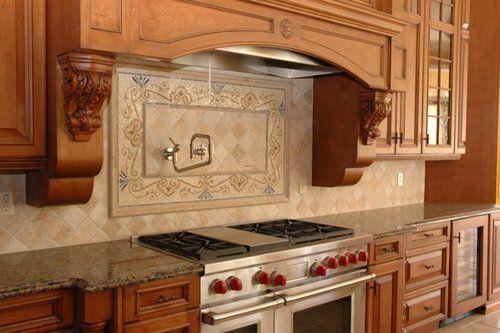 Hood Detail Kitchen Backsplash Designs Country Kitchen