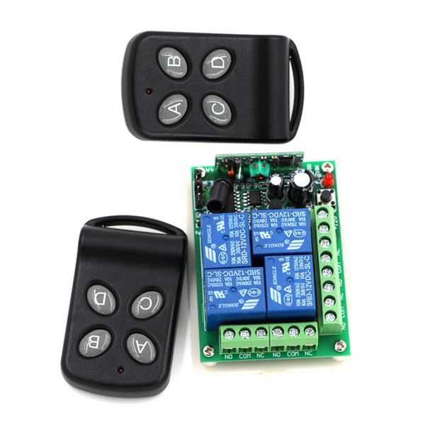 Hot Sale Dc 24v 4ch Rf Wireless Switch Remote Control Switch System Transmitters And Receiver For Smart Hom Wireless Switch Remote Control Electrical Equipment