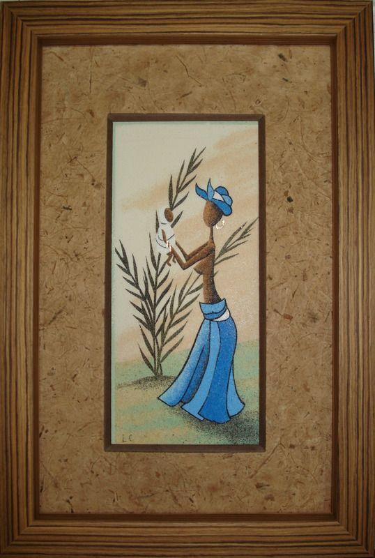 africa 2 tableaux peintures peinture au sable fait maison tableaux de sable pinterest. Black Bedroom Furniture Sets. Home Design Ideas