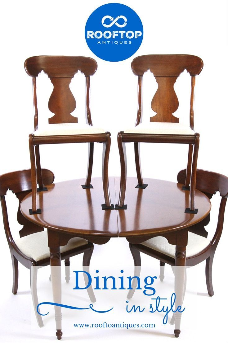Antique Solid Mahogany Dining Room Set