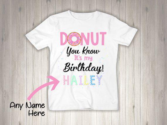 Donut Birthday Shirt 1st Tee Pink One Toddler Family Custom