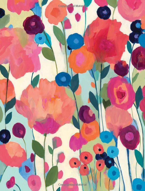 painted blossoms creating expressive flower art with