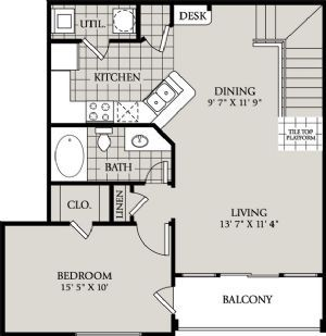 A3 815sf Comes With Attached Garage Below Apartment Available On The Second Floor With No One Above Or Below Small House Plans Tiny House Plans House Plans