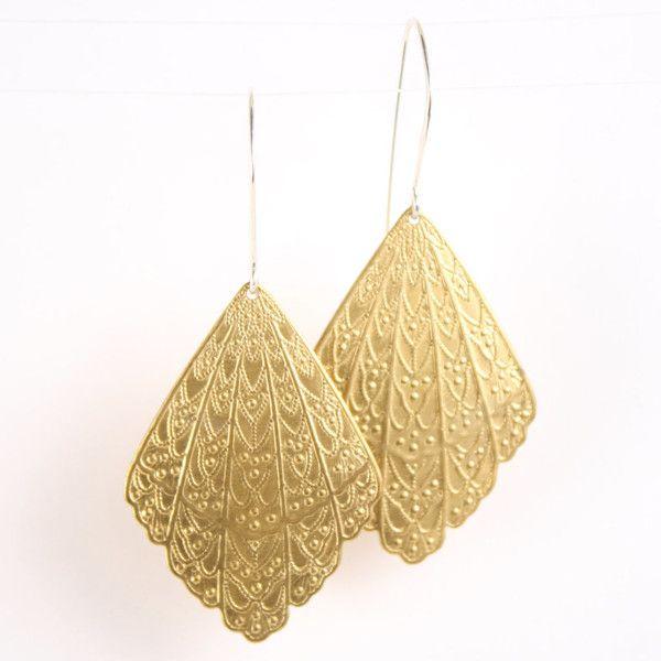 betsy & iya — Art Nouveau Fan earrings
