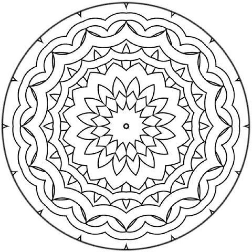 Joli Mandala à Colorier Pour Petits Et Grands Mandala