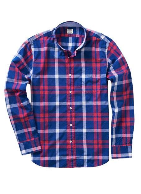 Slim Pink & Blue Plaid Shirt for Men | Bonobos #menswear #mensfashion - Slim Pink & Blue Plaid Shirt For Men Bonobos #menswear