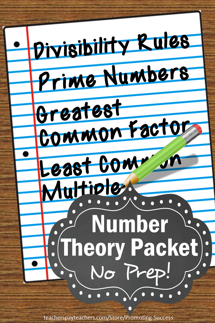 Number Theory, GCF and LCM, Divisibility Rules, Prime