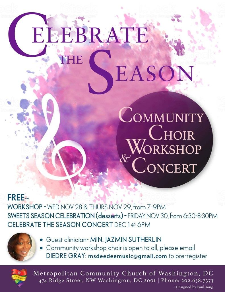Celebrate The Season With Our Community Choir Workshop And Concert Join Us This Year As We Host A Community Choir Christmas Concert Celebration Desserts Choir