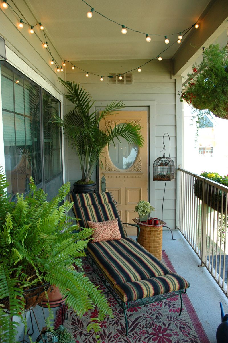 Balcony Decor Ideas Love The Lights Take It Outside Pinterest Balconies