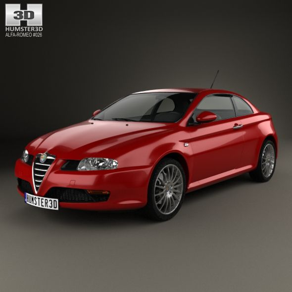 Alfa Romeo GT 2004. Fully Editable And Reusable 3D Model