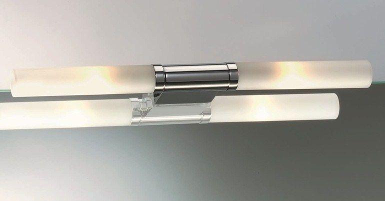 Lampada da specchio in metallo cromato a clip LINE 20 | Lampada da ...