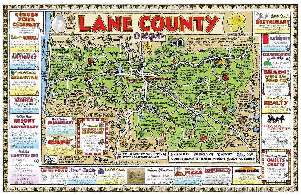 Lane County Oregon Oregon Map Oregon Travel Oregon Waterfalls