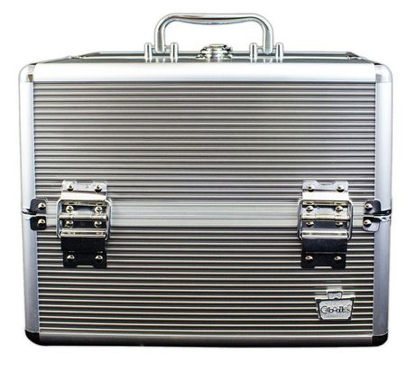 Caboodles 11 5 Inches Silver Goddess Cosmetic Train Case 4 Tray Cosmetic Train Case Train Case Eye Makeup
