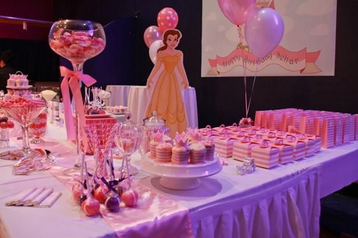 Exceptional Princess Theme Decoration Ideas Part - 5: Princess Themed 1st Birthday Party Lots Of Cute Ideas Via Karau0027s Party Ideas  | KarasPartyIdeas.
