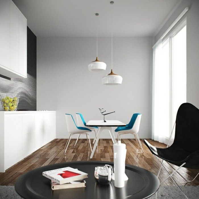Hanging Lamps Dining Table White Wall Colour Modern Interior Fascinating Hanging Dining Room Lights Review