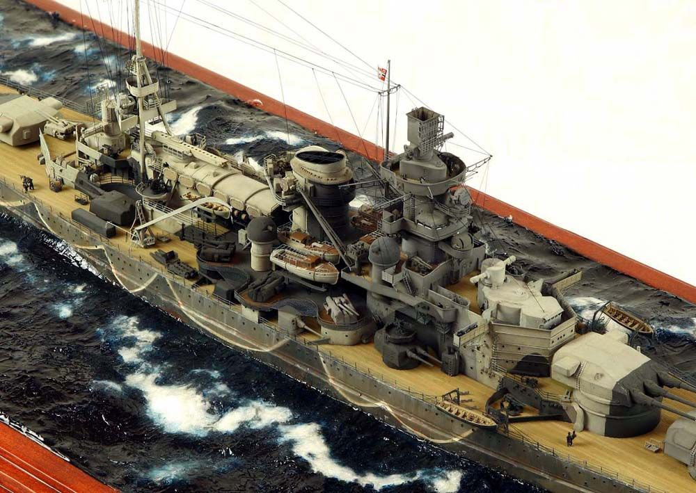 scharnhorst 1  350 scale model diorama