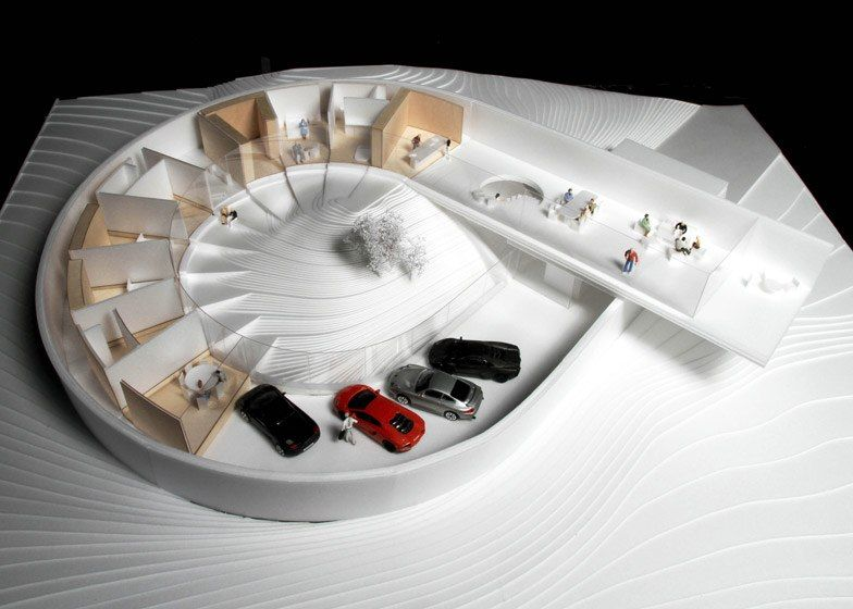 Bjarke Ingels Group (BIG)  unveils luxury home for car enthusiasts - Villa Gug, Ålborg, Denmark