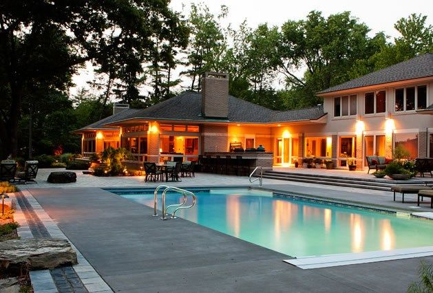 midwest swimming pool concrete pool deck swimming pool blue ridge landscaping holland - Swimming Pool Deck Design