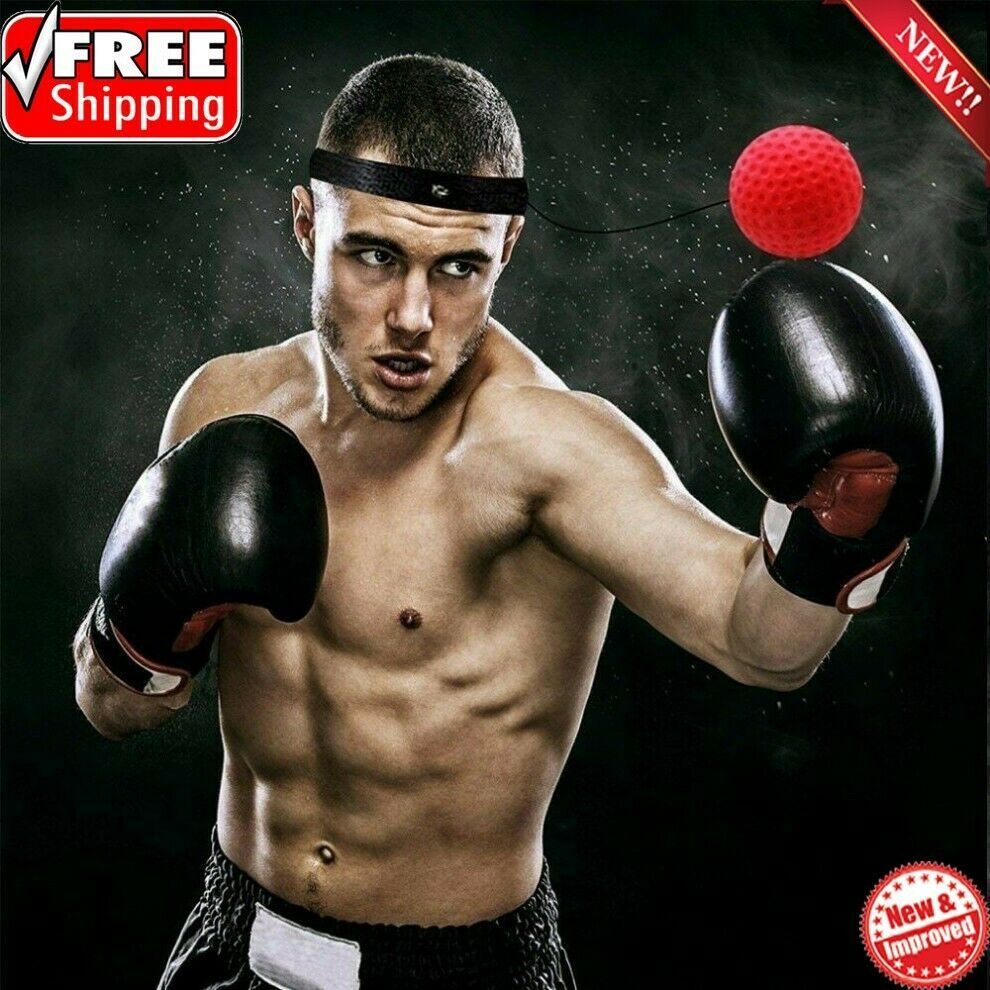 Punch Exercise Fight Ball With Head Band For Reflex Speed MMA Training Boxing UK