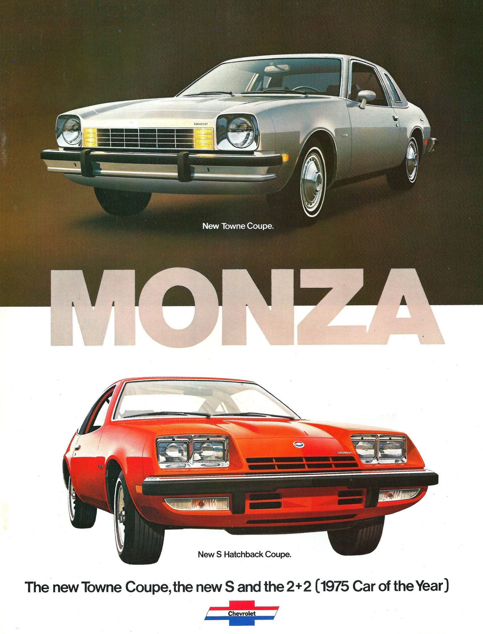 gm general motor company classic old photo advertisement brochure dealer dealership auto Chevy american 2-Page Car Ad 1975 Chevrolet Vega