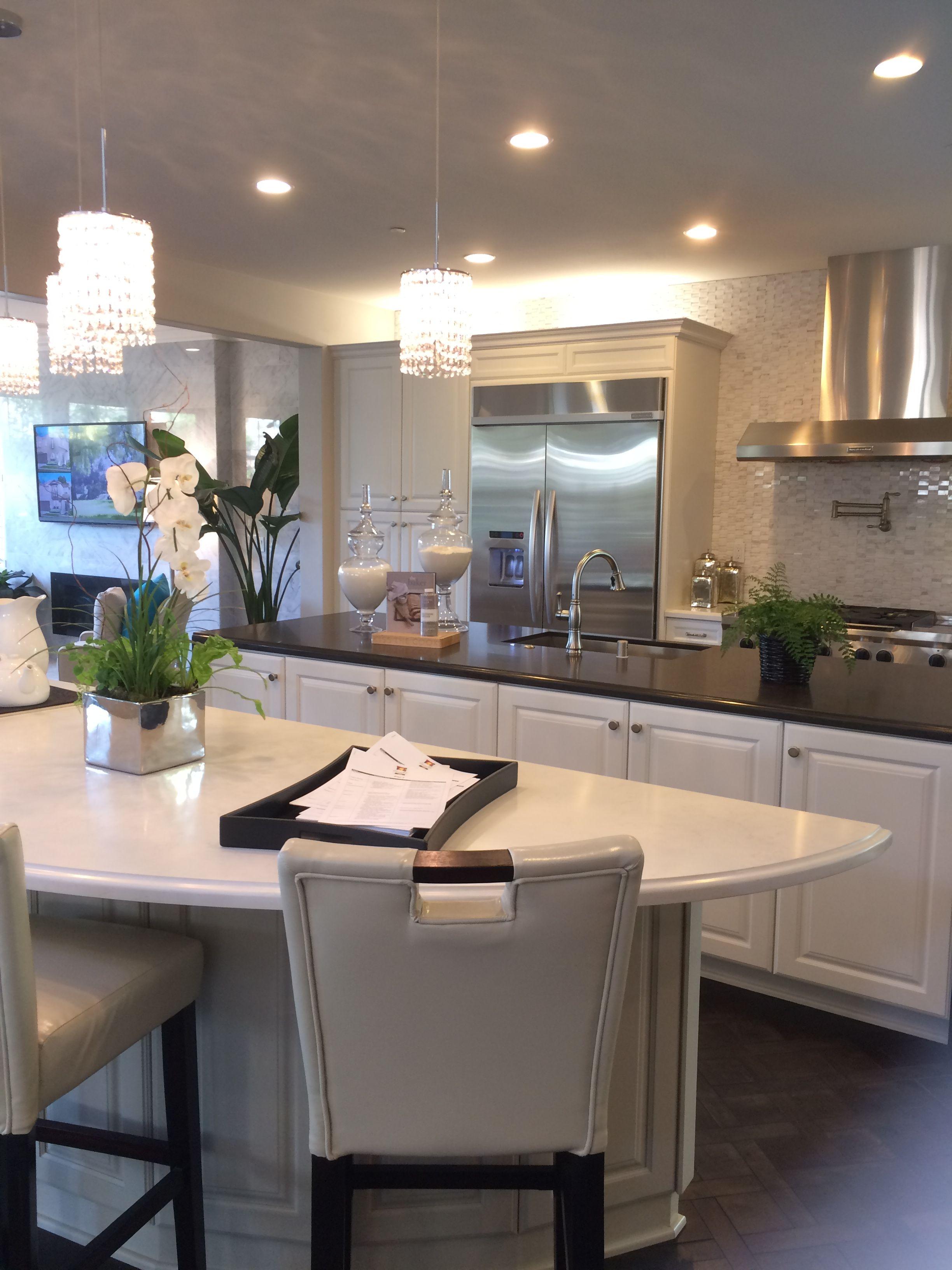 interesting two island kitchen