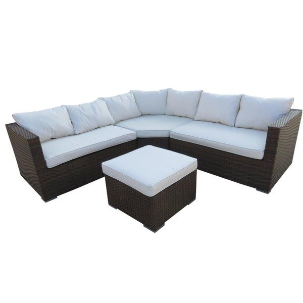 Roma 6 Seater Rattan Sofa Set with Cushion Sofa set, Rattan sofa