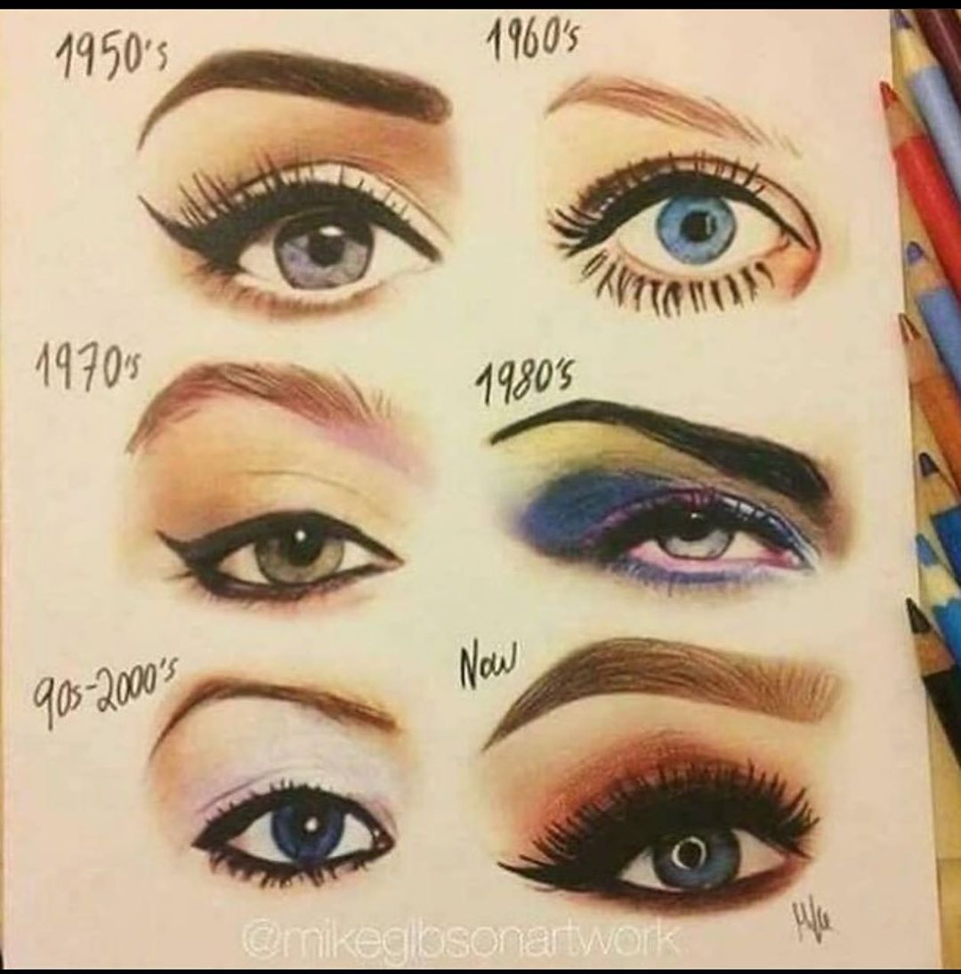 Which Is Your Favorite I Guess Im A 50s Girl Not Surprised Oldfashioned Eyesthroughtime Eyemakeup Eyes Classic Retro Makeup Vintage Makeup 70s Makeup