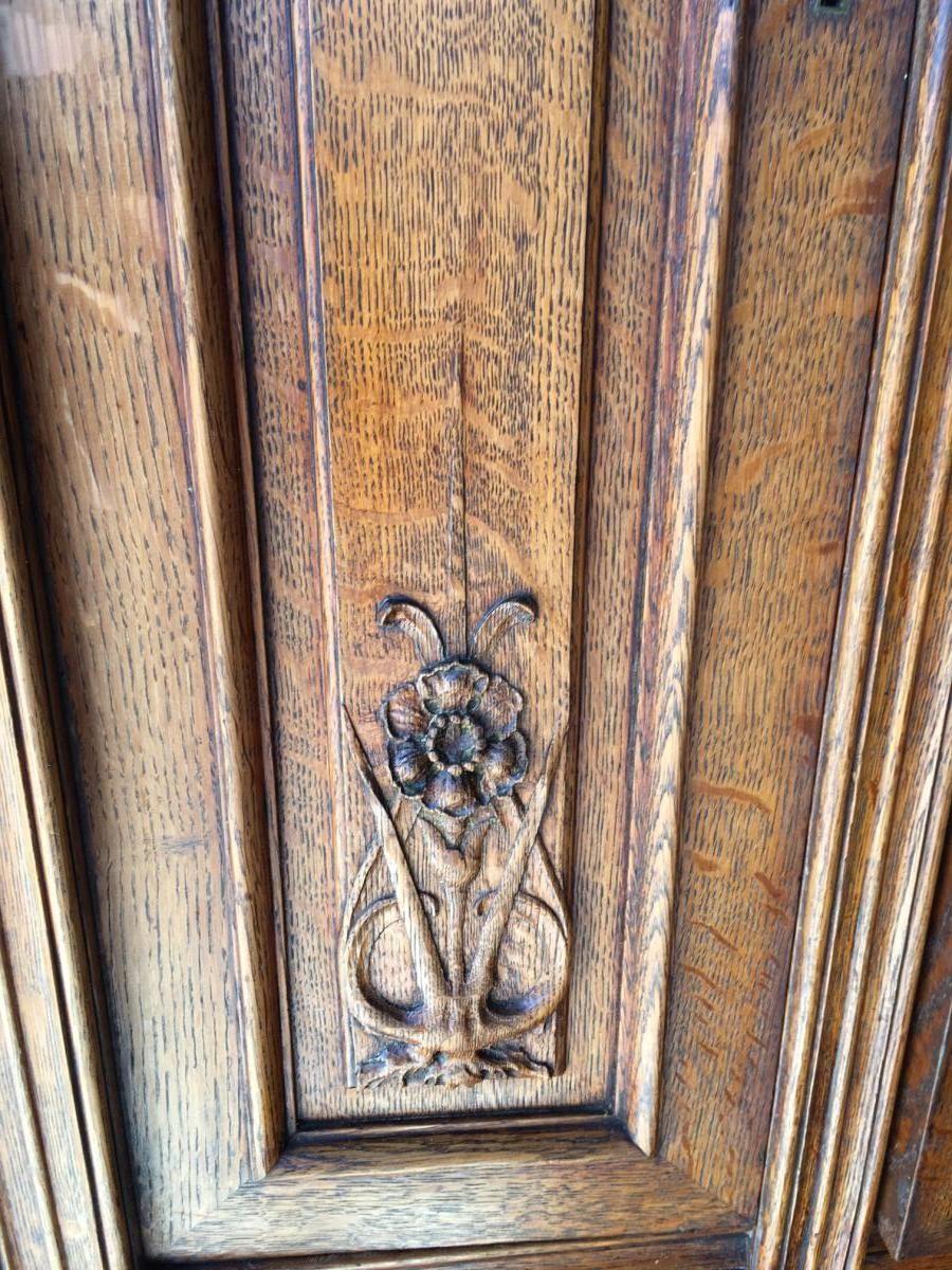 Meuble Art Nouveau De Krieger Paris 1900 Buffets Enfilades En 2020 Meubles Art Nouveau Art Nouveau Antiquaires