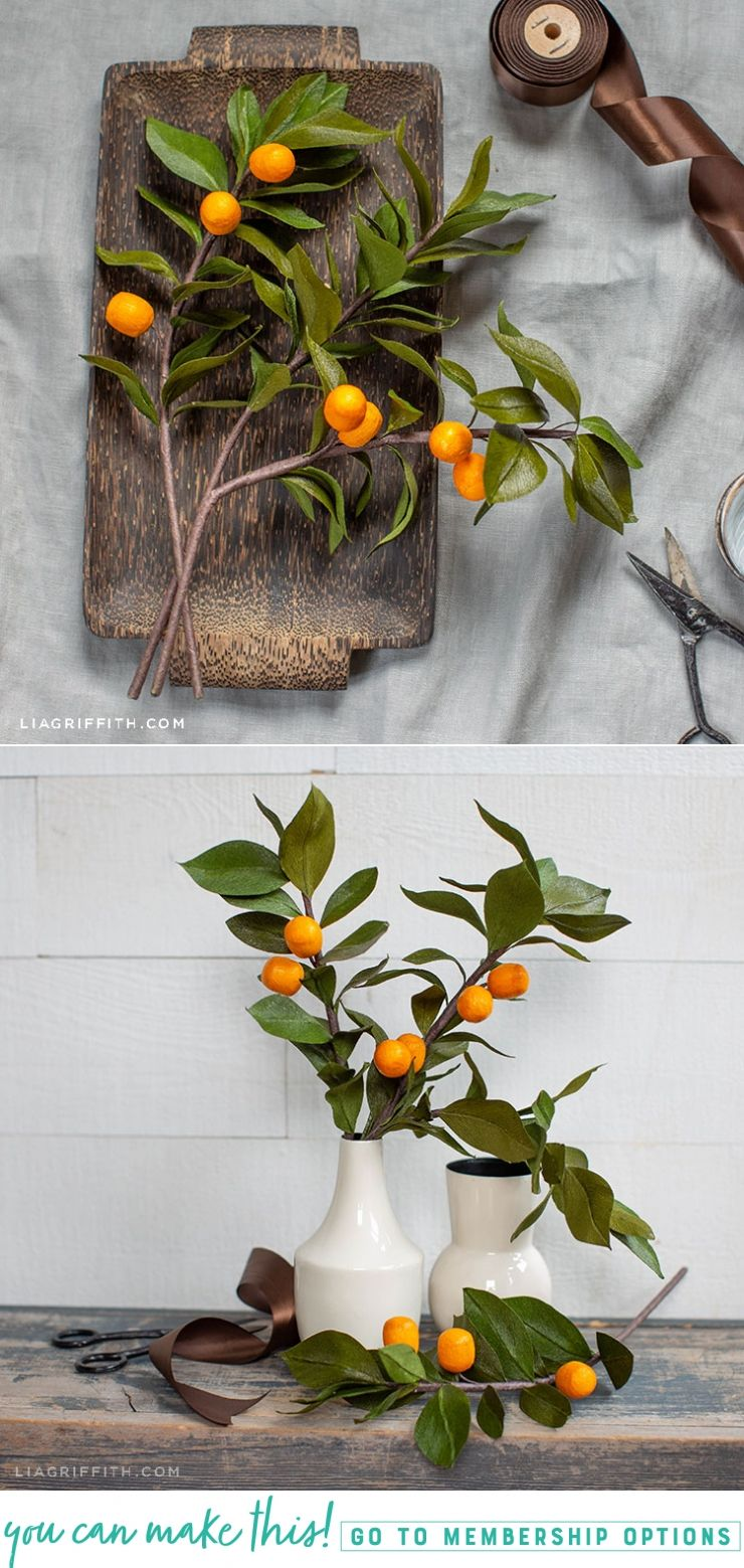 Photo of Crepe Paper Kumquat Branches – Lia Griffith