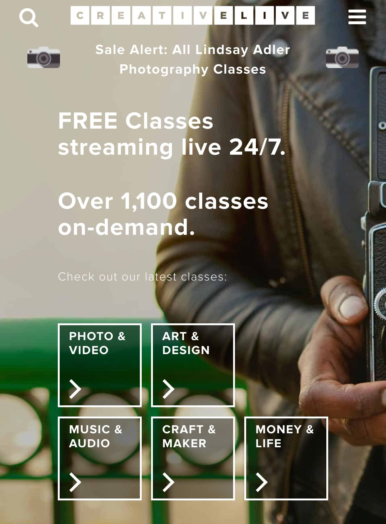 Free Online Classes Creativelive