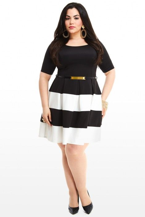 We\'re obsessing over this Park Avenue Colorblock Dress. Plus size ...
