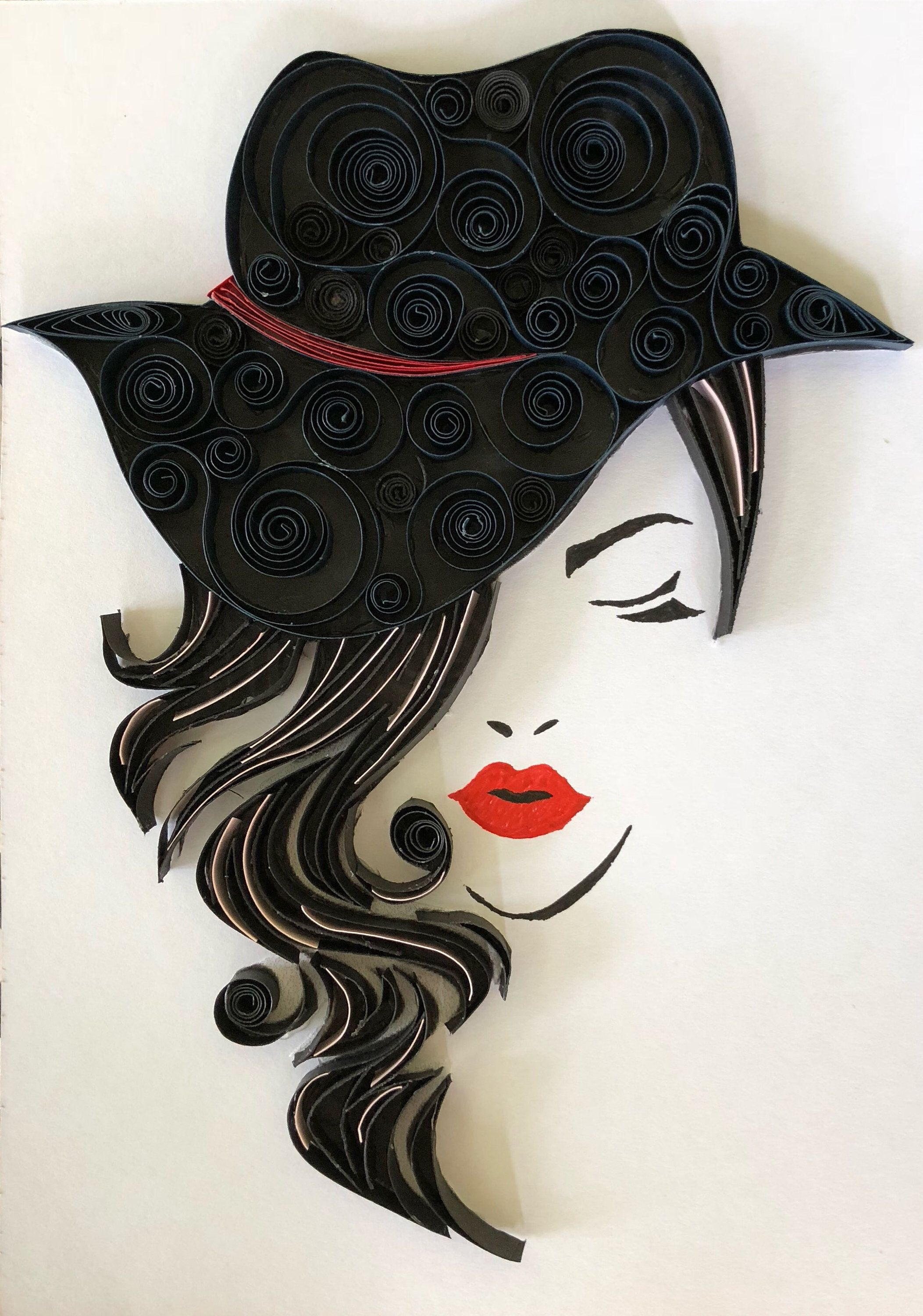 Items similar to Handcrafted Quilling Fashionista - 8 1/2 x 11 on Etsy #mygirl