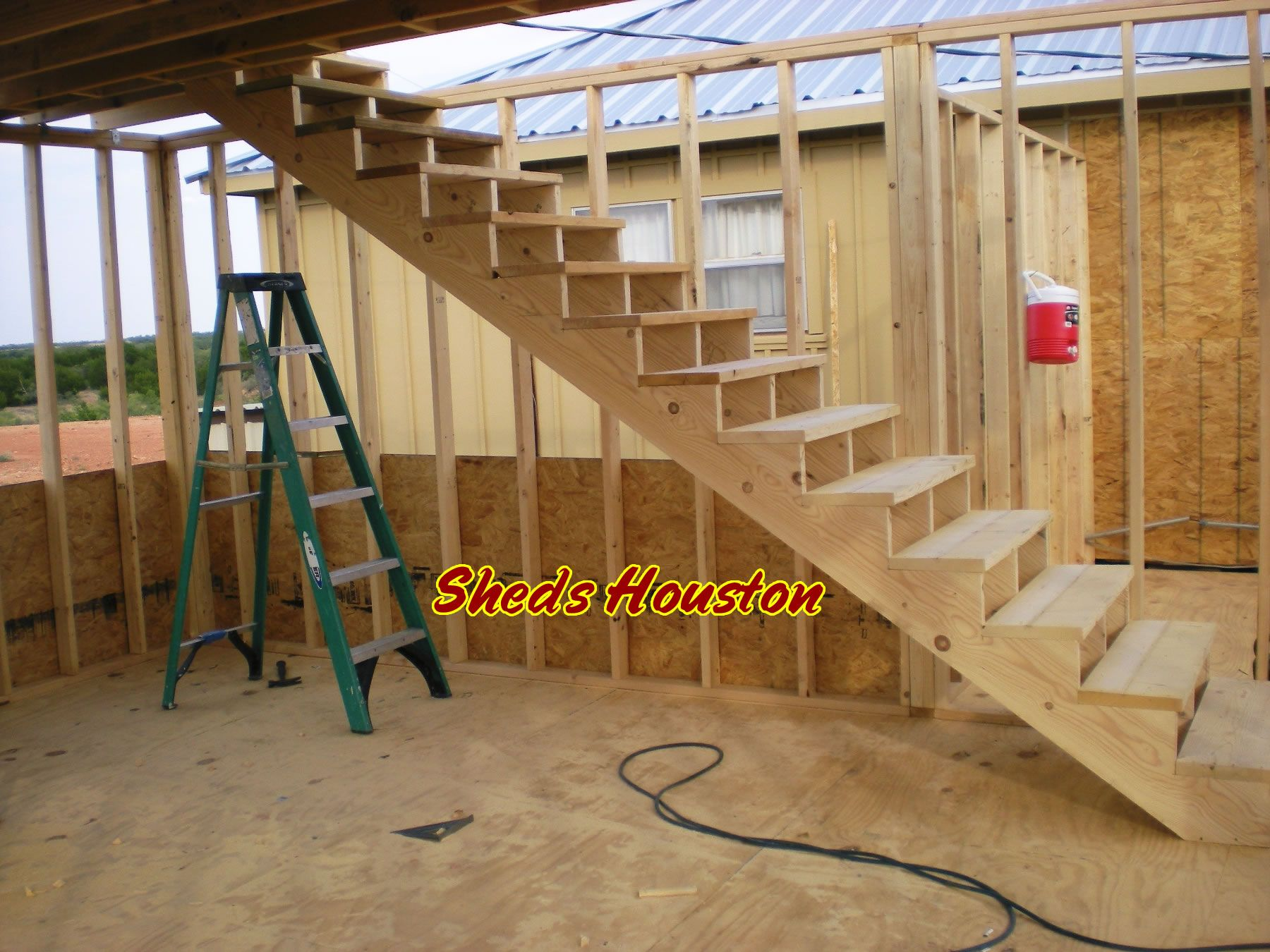 Two Story Decks With Stairs | , Fences U0026 Decks: Sheds » 2 Story Office